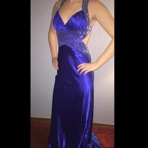 Dave & Johnny Royal Blue Prom Dress